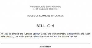 Bill C-4 Would Undo Conservative Laws Designed to Undermine Unions