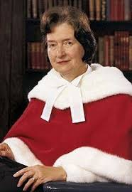 Justice Bertha Wilson of the Supreme Court of Canada