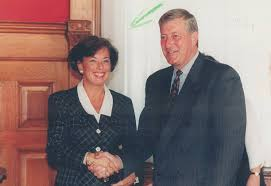Conservative Minister of Labour Elizabeth Witmer, circa 1995